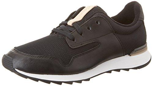 Clarks Floura Mix, Women's Low-Top Sneakers, Black (Black Leather), 7 UK (41 EU)