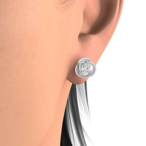 Diamond Studs Forever - Solitaire-Ohrstecker - 0,5 ct. Diamanten GH/I1 - Weißgold 14 K - 5