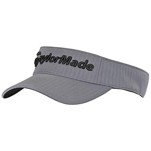 TaylorMade 2017 Tour Radar Performance Mens Golf Visor-Adjustable Grey