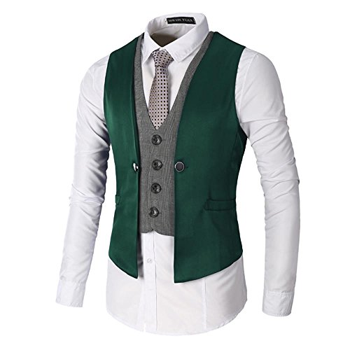Sunshey -  Gilet  - Uomo Green 2