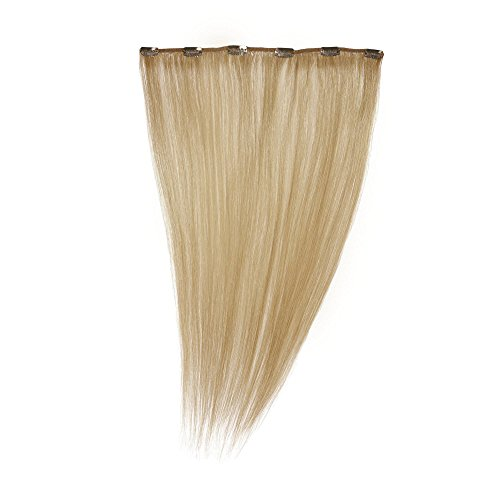 Love Hair Extensions - LHE/A1/QFC12/35G/18/16 - 100 % Cheveux Naturels - Maximum Volume - Barrette Unique Extensions à Clipper - Couleur 16 - Blond Sahara - 46 cm