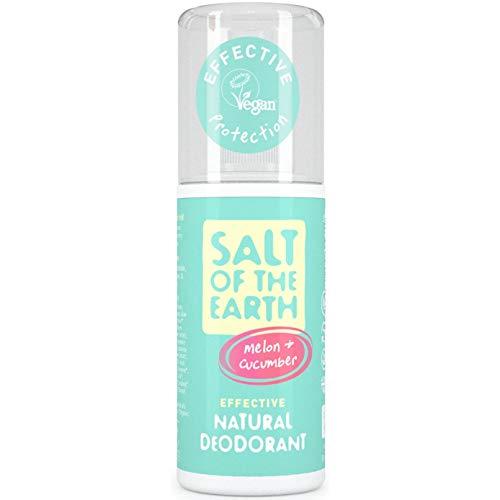 Crystal Spring Salz der Erde Pure Aura Melone & Gurke Duft. Effektive natürliche Deodorant 100ml. Vegan & Vegetarische Gesellschaft genehmigt