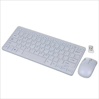 TOOGOO (R) 2.4GHz ultrafino de escritorio inalambrico Teclado y Raton