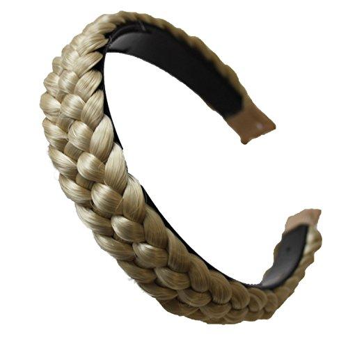 PRETTYSHOP Haarreifen mit geflochtenem Zopf Haarteil Haarband Kopfschmuck Haarschmuck HR4