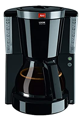 Melitta Look IV Selection, 1011-04, Filter Coffee Machine with Glass Jug, Keep Warm Function, Aroma Selector, Black/Brushed Steel by Melitta