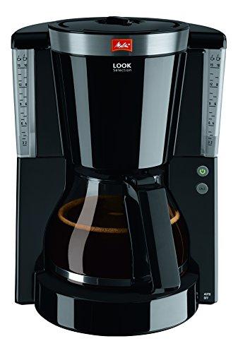Melitta 1011-04, Filterkaffeemaschine mit Glaskanne, AromaSelector, Kaffeemaschine Look IV Selection, schwarz, Kunststoff, 1.2 liters