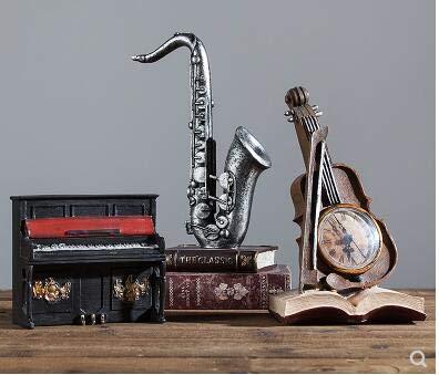 el Musikinstrument Modell kreative Heimwerker Dekoration Wohnzimmer TV Schlafzimmer Kleine Kultur Statue ()