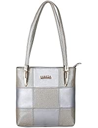 8c9f0f7b95 ESBEDA Silver Color Medium Size Chunky Glitter Handbag For Womens