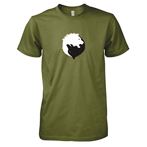 TEXLAB - GoT: Black and White - Herren T-Shirt, Größe M, oliv