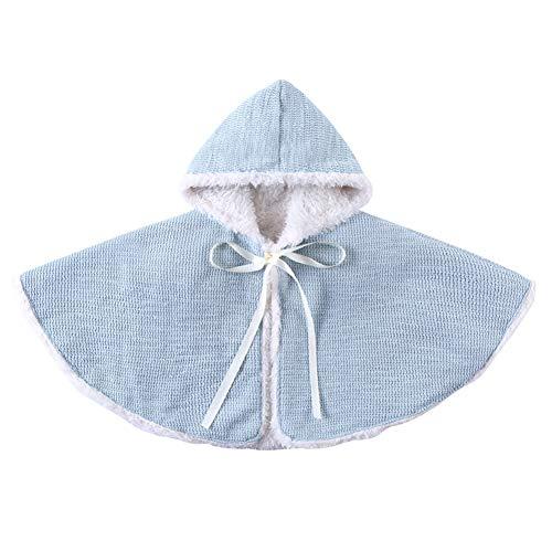 EFINNY Baby Kinder Kleinkind Herbst Winter Warm Kapuzen Cape Umhang Poncho Cute Cotton Soft Hoodie Mantel mit Engelsflügeln 1-6 Jahre