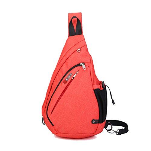 Klassische Hochwertige Messenger Bag Outdoor Sport Daypack Orange