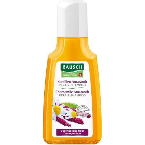 Rausch Kamillen-Amaranth Repair-Shampoo (milde Aufbaupflege für mehr Elastizität und Glanz, ohne Silikone und Parabene - Vegan), 4er Pack (4 x 40 ml)