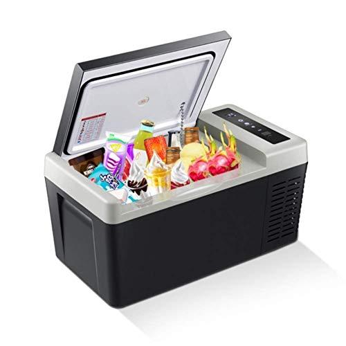 RMXMY Auto Mini Kühlschrank Kühl und Warm Elektrische Kühlbox, Dual Voltage Auto Kühlschrank 12 V für Auto und Heim, 18L Tragbare Kühlbox für Reisen (Schwarz) (Color : Car and Home use)