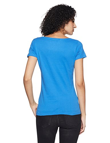 Jealous Club21 Women's Body Blouse Top (PJEAL-TSS-0003465_Blue_Medium)