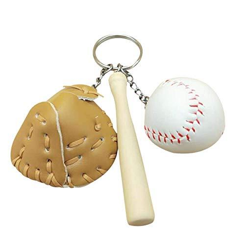 Kreative Baseball Keychain Tasche Anhänger Baseball Fan Liefert Geschenk Sport Souvenir (7,5 * 11 cm) Style 1 (Ihr Baseball Eigenes Wie Sie)