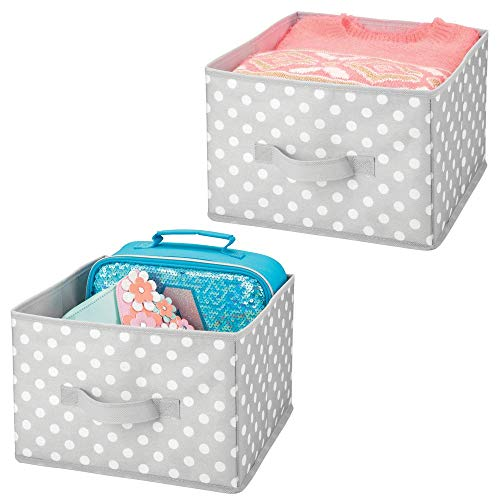 MDesign Juego de 2 cajas de almacenaje para ropa