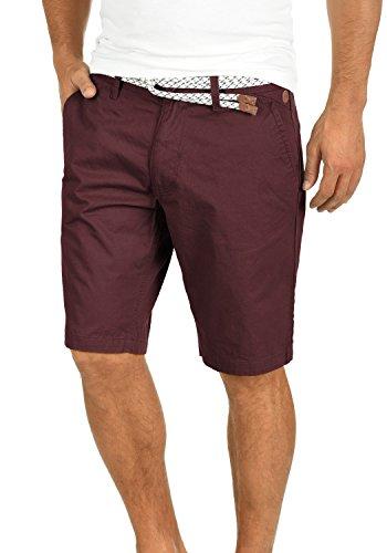 Blend Ragna Herren Chino Shorts Bermuda Kurze Hose Mit Kordel-Gürtel Aus 100% Baumwolle Regular Fit, Größe:M, Farbe:Wine Red (73812) (Shorts Rote Chinos Männer)