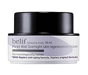 KOREAN COSMETICS, LG Household & Health Care_ belif, First Aid Overnight Skin Regeneration Mask (50ml, sleeping pack, moisturizing, nutrition supply)[001KR]