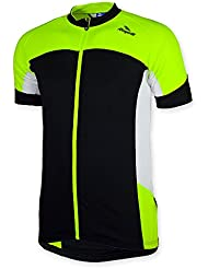 Rogelli Hombre Camiseta Manga Corta Recco, primavera/verano, hombre, color Negro - negro/amarillo/blanco, tamaño 4XL