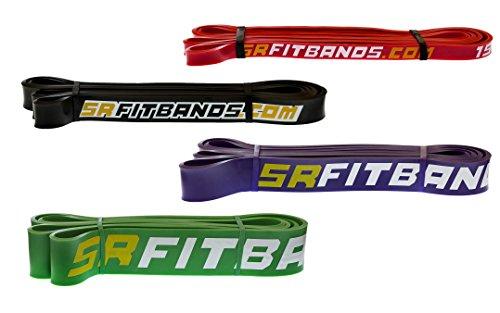 Widerstand Band | Übungsband | Fitness Band: mit der SR Passform Band Befestigungsschlaufe | Single Widerstand Band-104,1cm Loop, #6 Black - Basic | 25-65 lbs