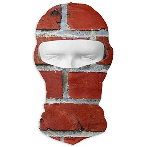 Preisvergleich Produktbild Xukmefat Vollmaske Ski Mask Atmungsaktiv Schnell trocknend Red Brick Wall Men Women