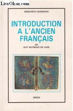 Introduction  l'ancien franais