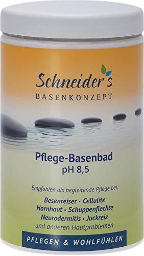 Schneider\'s Pflege-Basenbad - von Heilpraktikern entwickelt - ideal für Basen- und Entschlackungskuren, Wickel und Fußbad - unterstützt die Entsäuerung - Hergestellt in Deutschland