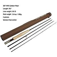 """aventik mosca cañas de pescar 7'6""""LW4Silla de, 8' 6"""" LW5, 9'0""""LW5, 9' 0"""" LW6, 9'0""""LW8, IM8grafito de tamaño mediano de acción rápida de carbono caña de pescar y tubo"""