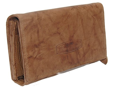 RabamtaGO Collection® , Portafogli  mittel-Braun Maße ca. 17 x 10 x 4 cm mittel-Rot