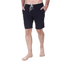 Zobello Mens Swim Shorts (41004A_Black_Medium)
