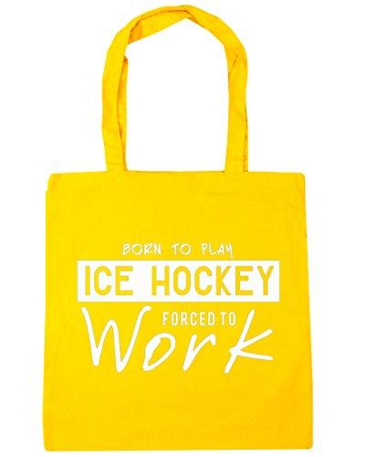 hippowarehouse-born-to-play-de-hockey-sobre-hielo-forzado-a-trabajar-bolsa-de-compras-bolsa-de-playa