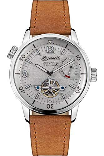 Ingersoll The New Orleans Reloj para Hombre Analógico de Automático con Brazalete de Piel de Vaca I07802