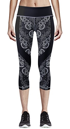 zipravs Damen Women Yogahose Fitnesshose Capri Leggings 3/4-Länge Laufhosen (Womens Capri Pants Spandex)