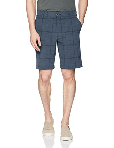 Lee Herren Performance Series Tri-Flex Legere Shorts, Ocean Blue Plaid, 52 -