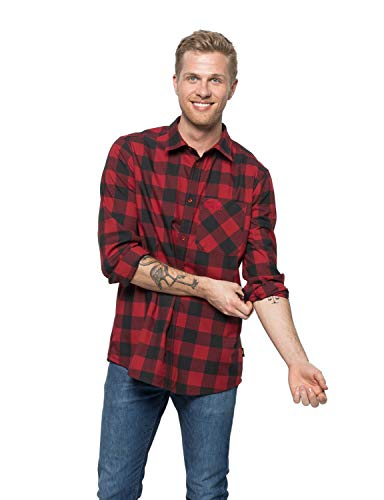 Jack Wolfskin Herren River Shirt Hemd, red Lacquer Checks, L