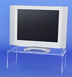 acrylglas plexiglas tv br cke 55x13x30 podest fernseherh hung monitor aufsatz k che. Black Bedroom Furniture Sets. Home Design Ideas