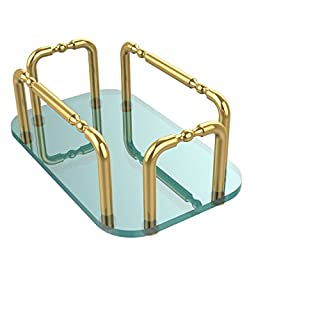 Allied Brass GT-1-PB Vanity Top Guest Towel Holder, Polished Brass by Allied Precision Industries