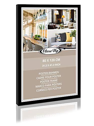 Close Up XXL Posterrahmen 80x120 cm schwarz Premium MDF-Rahmen PVC-Glasscheibe Riesen Bilderrahmen