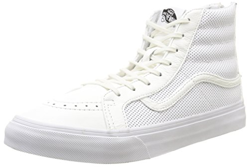 Vans - U Sk8-Hi Slim Zip Perf Leather, Sneakers, unisex, Bianco (Perf Leather/True White), 38