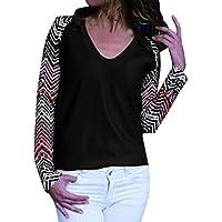 Basic Langarmshirt Damen V-Ausschnitt Bluse Damen Langarm Elegante blusen Damen Pullover Damen Tumblr top sexy T-Shirt Stichdruck S-XXL,