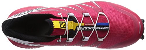 Salomon Speedcross Pro, Chaussures de Running Compétition Femme Multicolore (Lotus Pink/White/Black)