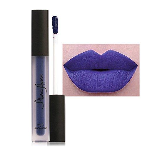 Lips Lippenstift (Lip Gloss FORH FOCALLURE Lippenstifte Kosmetik Sexy Lippen Matte Lipgloss wasserdichte Long Lasting Moisturizing Flüssigkeit Lipgloss Lippenstift Lip Gloss (M))