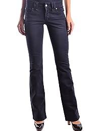Galliano Damen MCBI130038O Blau Baumwolle Jeans