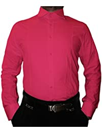 Designer Herren Hemd klassischer Kragen New Kent 2 Knopf Herrenhemd Slim  Fit tailliert Langarm 60d0d5e2cf
