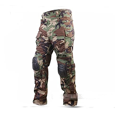 Army Military Shooting BDU Men Gen3 G3 Combat Pants Trousers with Knee Pads for Airsoft WorldShopping4U (X-L)
