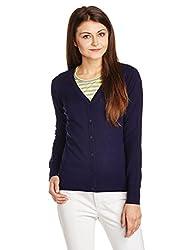 US Polo Womens Cotton Sweatshirt (UWFL0062_Blue Ribbon_S)