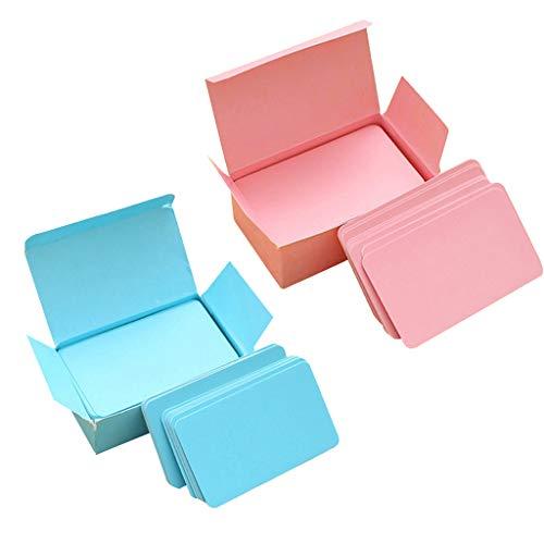 perfk 2 Boxen 180 Stücke Blanko Papier Wort Karten Postkarten für Hochzeit Gruß- und Glückwunschkarten, Geschenke (Gruß-karte-papier)