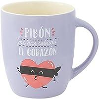 Mr. Wonderful WOA08722ES Taza Pastel Pibón Me Has Robado El Corazón…, Compuesto, Multicolor, 14.2x15.6x8 cm