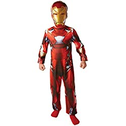Marvel Captain America Civil War Classic Iron Man (NO MUSCLES) - Kids Costume 5-6 years