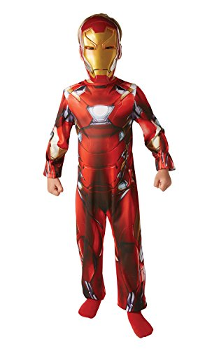 Kostüm Iron Kind Mann - Rubie's 3620676 - Iron Man Classic Civil War - Child, Verkleiden und Kostüme, M - 116cm - Age 5-6